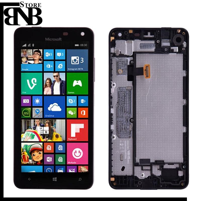Original lumia 650 LCD para Microsoft Nokia lumia 650 LCD pantalla y pantalla táctil digitalizador montaje con marco/sin marco