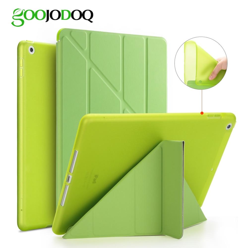 For iPad 2 3 4 Case for iPad Mini 4 3 2 1 5 2019 Case Silicone Soft Back Multi-fold  Leather Smart Cover for iPad Mini 4 Case