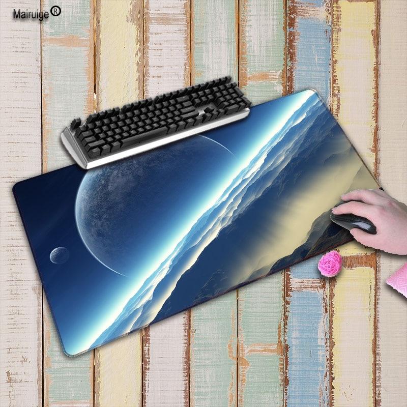 Almofada super grande 60cm 70cm 80cm 90cm mairuige espaço azul grande branco da mesa da esteira da almofada do rato da borda do fechamento
