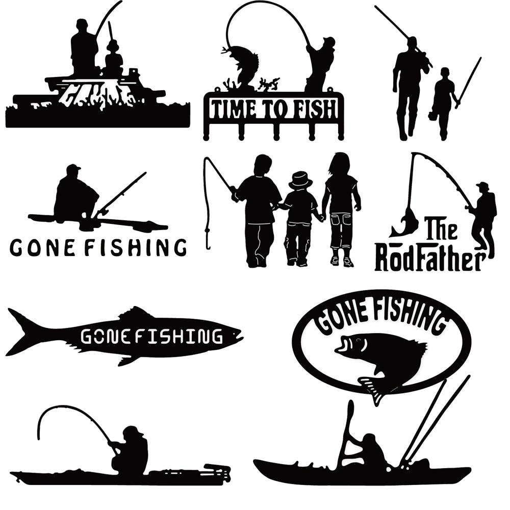 Estel Men Canoe Go Fishing Metal Cutting Dies Stencils for DIY Scrapbooking Album Paper Card New Arrival Embossing Die Cut