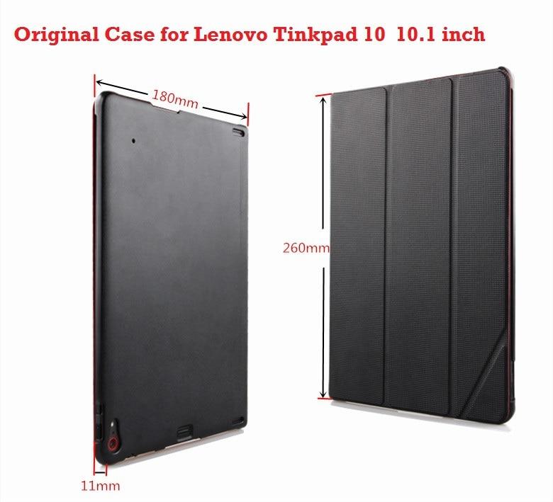 Nueva funda Lenovo Thinkpad 10 100% Original marca ultrafina Funda de cuero inteligente para Lenovo Thinkpad 10 10,1