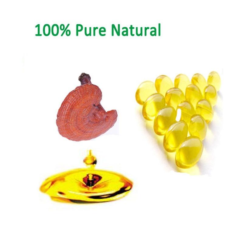 100% reine Natürliche Extraktion Ganoderma Lucidum Spore Öl Triterpene> 98%, Lingzhi Freies verschiffen
