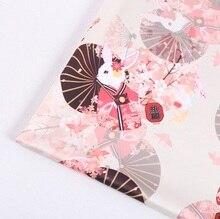 Mylb-tissu imprimé en satin   charmeuse en polyester doux, motif de fleurs vintage