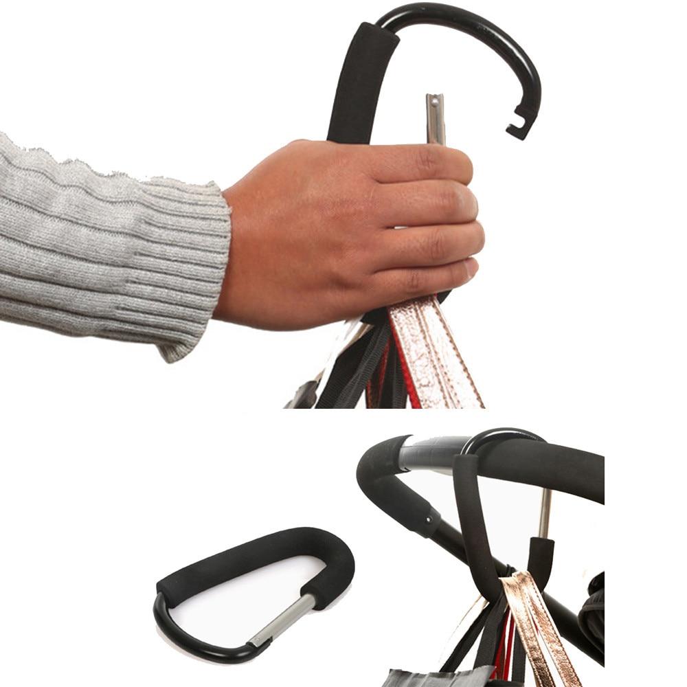 Heißer Verkauf Praktische Baby Buggy Clips Große Kinderwagen Kinderwagen Einkaufstasche Haken Mummy Tragen Clip Schaum griff licht Durable Aluminium