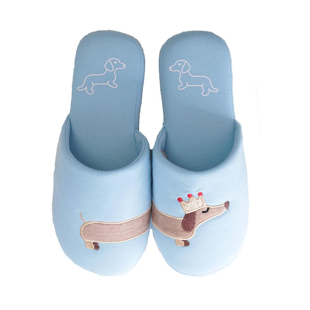 Millffy Women's unicorn house slipper Dachshund dog cotton bedroom indoor slippers