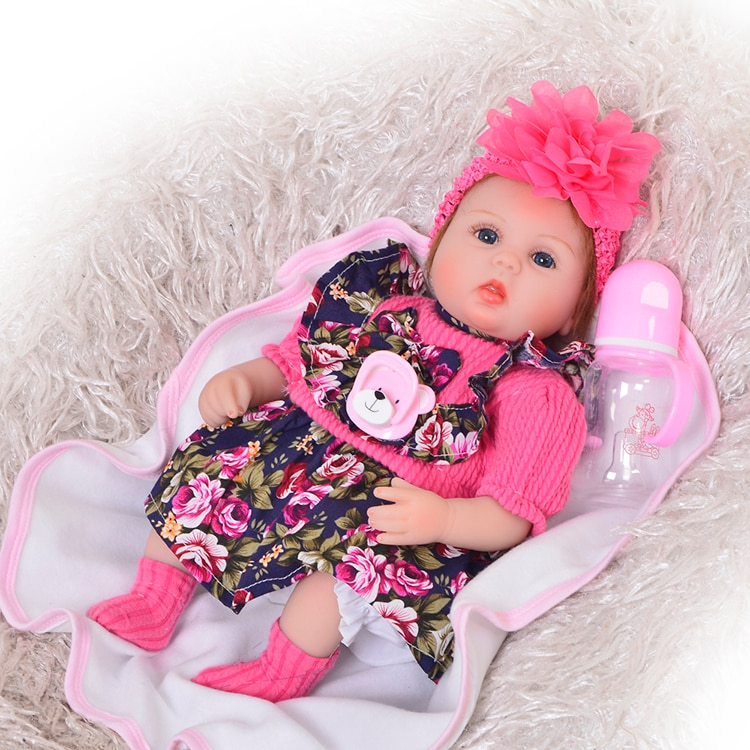 DollMai Cute Silicone Rebron Baby Dolls Newborn alive Baby 17 inch Realistic Princess 43 cm Kids Playmates Bebes Reborn bonecas