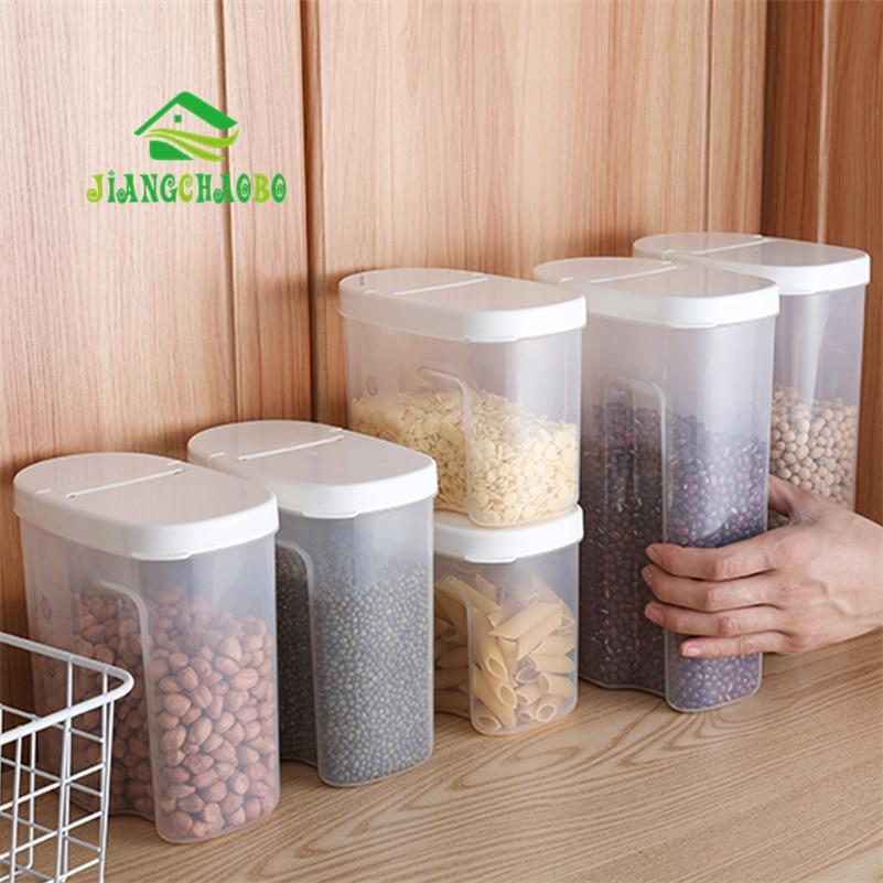 JiangChaoBo, Кухонный Контейнер для хранения зерна, прозрачная крышка, пластиковый герметичный бак для хранения пищи, резервуар для хранения влаги, бытовой бак для хранения