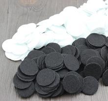 Ensemble de 1000 pièces de feutres ronds découpés   Blancs et noirs, fabrication de cartes, Packs de feutres ronds artisanaux, taille 20-50mm, vente en gros