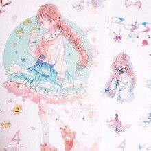 Pegatina Kawaii encantadora de December y Wind Girl, Manual DIY, pegatina decorativa para portátil, pintura, papelería