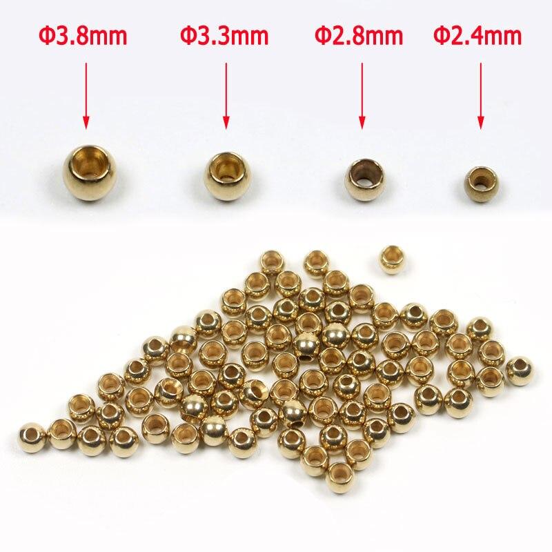 Латунные крючки с шариками для Nymph Streamer Bugs, аксессуары для ловли рыбы, 2,4 мм 2,8 мм 3,3 мм 3,8 мм, 100 шт.