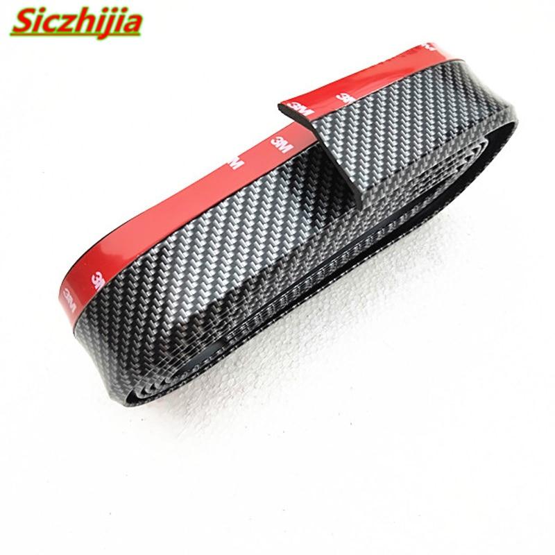 Protector de coche de fibra de carbono de goma de labio delantero parachoques para Acura RLX CL EL CSX ILX MDX NSX RDX RL seis TL TSX Vigor ZDX