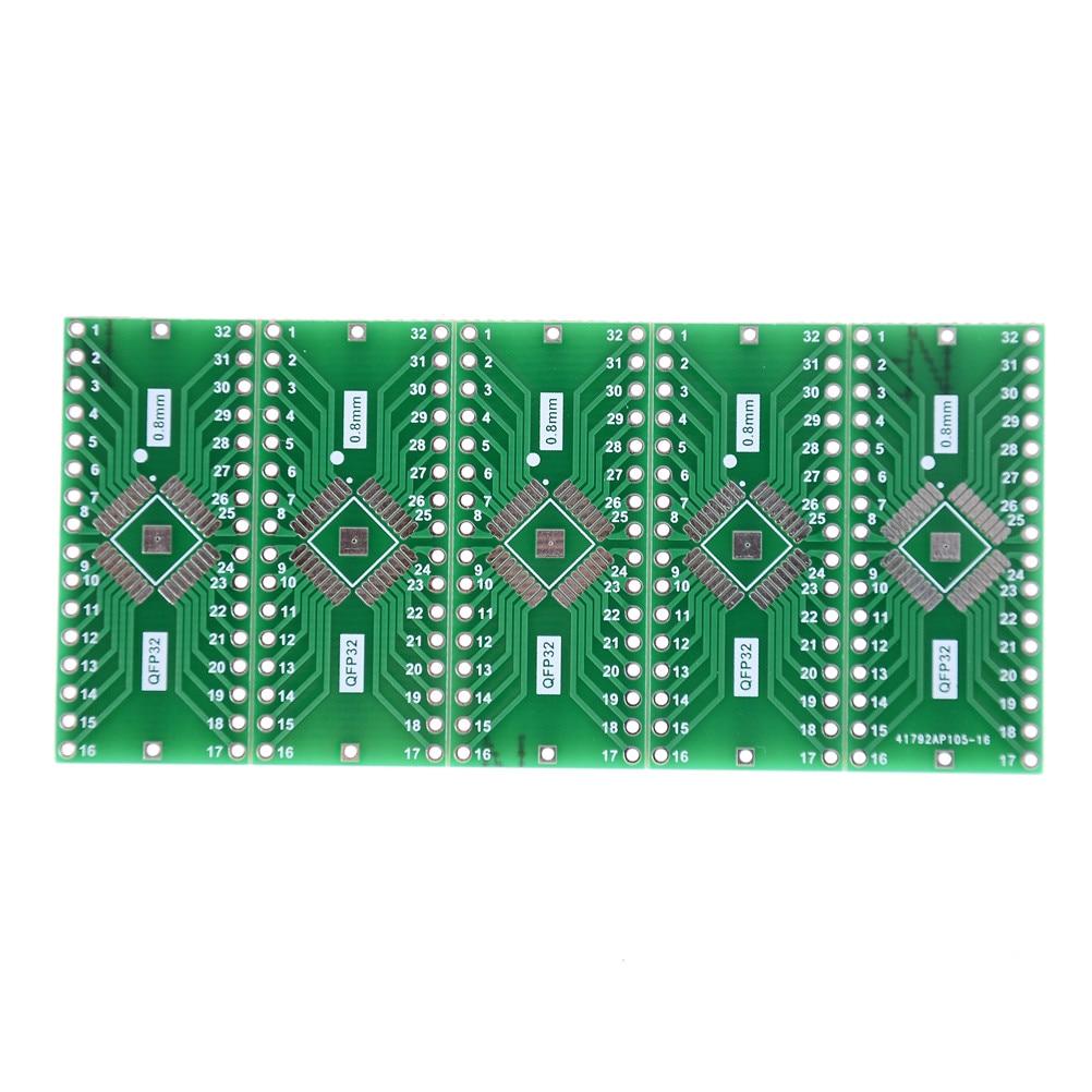 5 шт. TQFP/LQFP/EQFP/QFP32 0,8 мм до DIP32 адаптер PCB плата конвертер