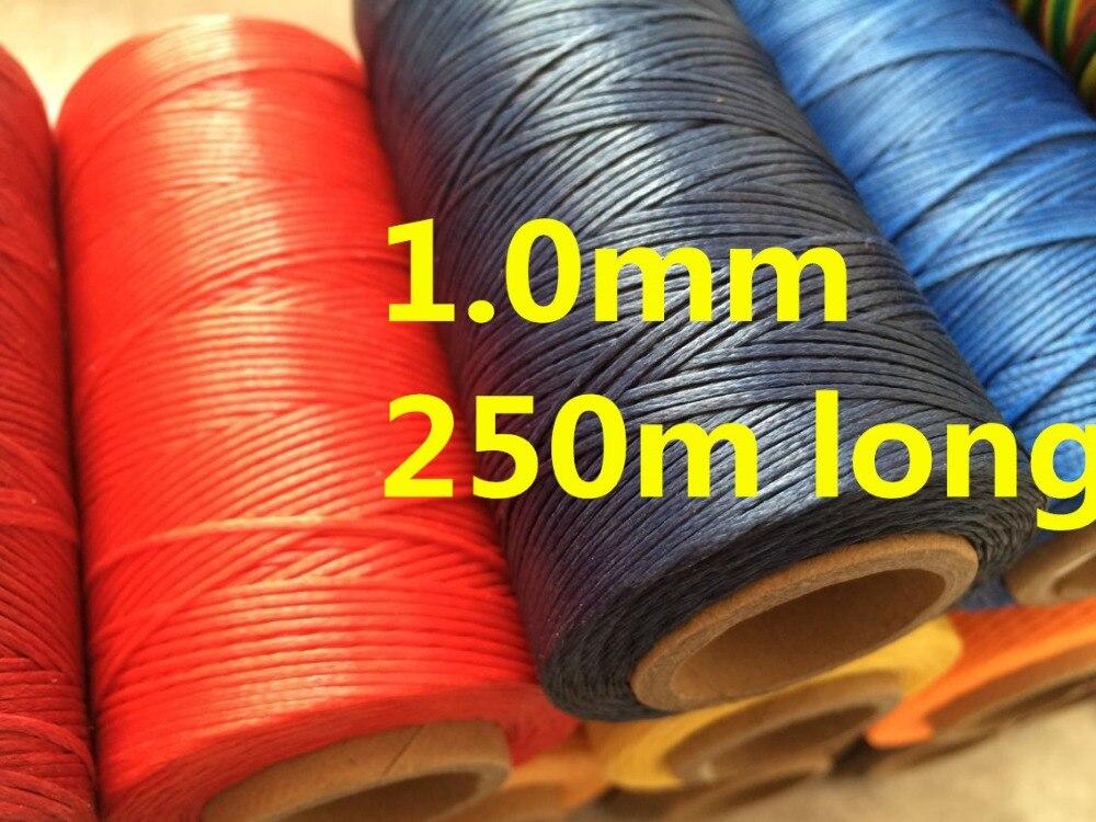 LX001 1,0mm Breite 150D 250m Lange Gewachste Themen Wachs String für Leder Swewing