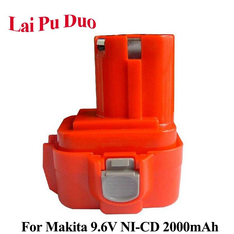 Batería de herramientas eléctricas 9,6 V 2.0Ah NI-CD para Makita 9120, 9122, 9133, 9134, 9135, 9135A, 6222D, 6260D, 192019-4,192534-A, 6261DWPE