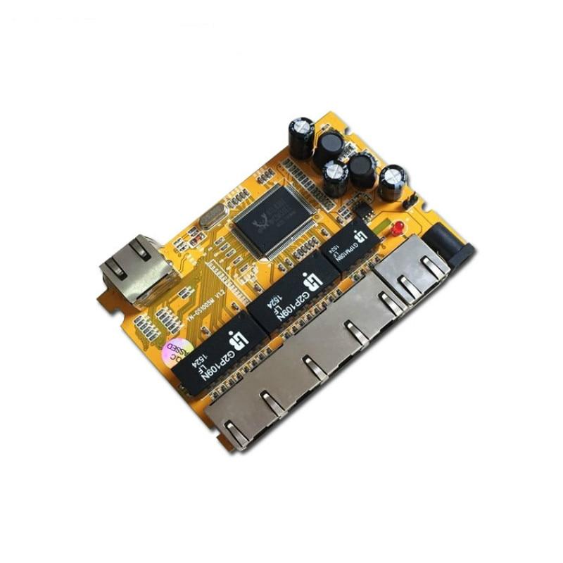 OEM/ODM 5 Port 10/100/1000M realtek chipset gigabit switch pcba Module network switch poe  ethernet hub enlarge