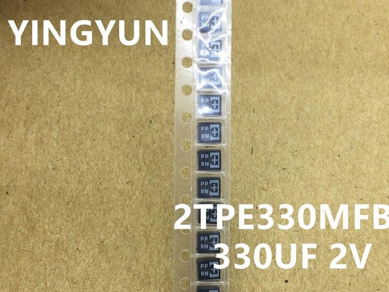 5 unidades/lote, nuevo, original 2TPE330MFB 330UF 2V B2 Esr condensador de Tántalo de 15 miliohmios