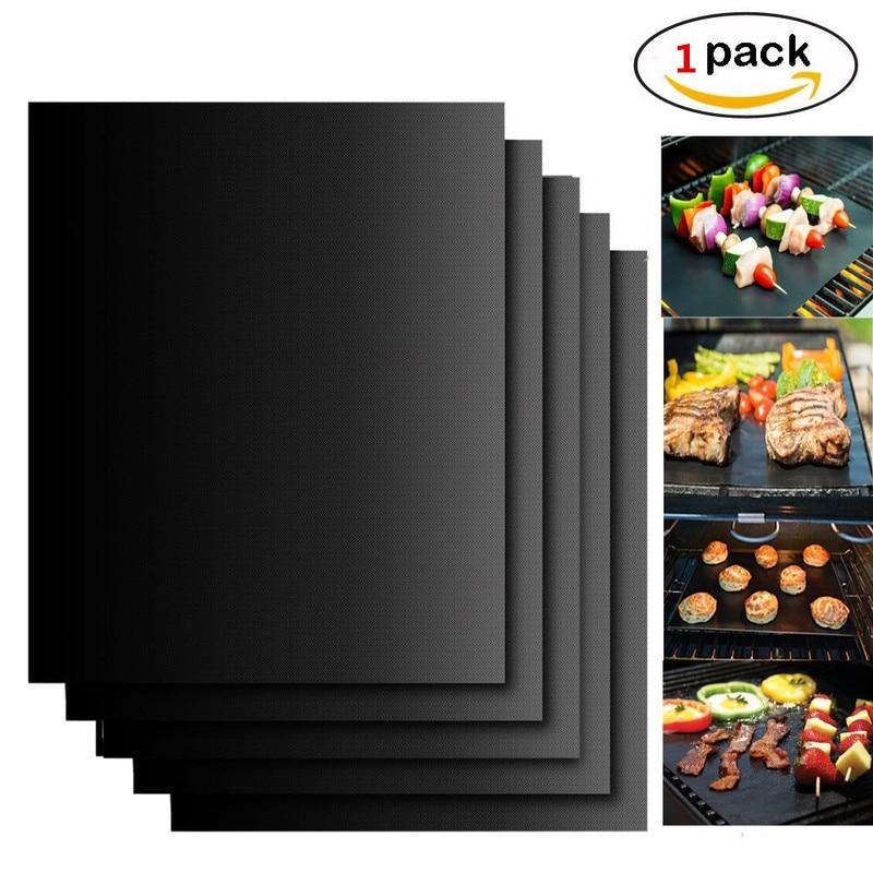 1pcs reutilizável superfície antiaderente bbq grill esteira de cozimento placa quente fácil limpar grelhar piquenique acampamento churrasco churrasco ferramentas, q