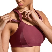 Soutien-gorge de sport 3 couleurs pour femmes à haut Impact avant réglable légèrement rembourré dos nageur 32 34 36 38 40 42 B C D DD E F