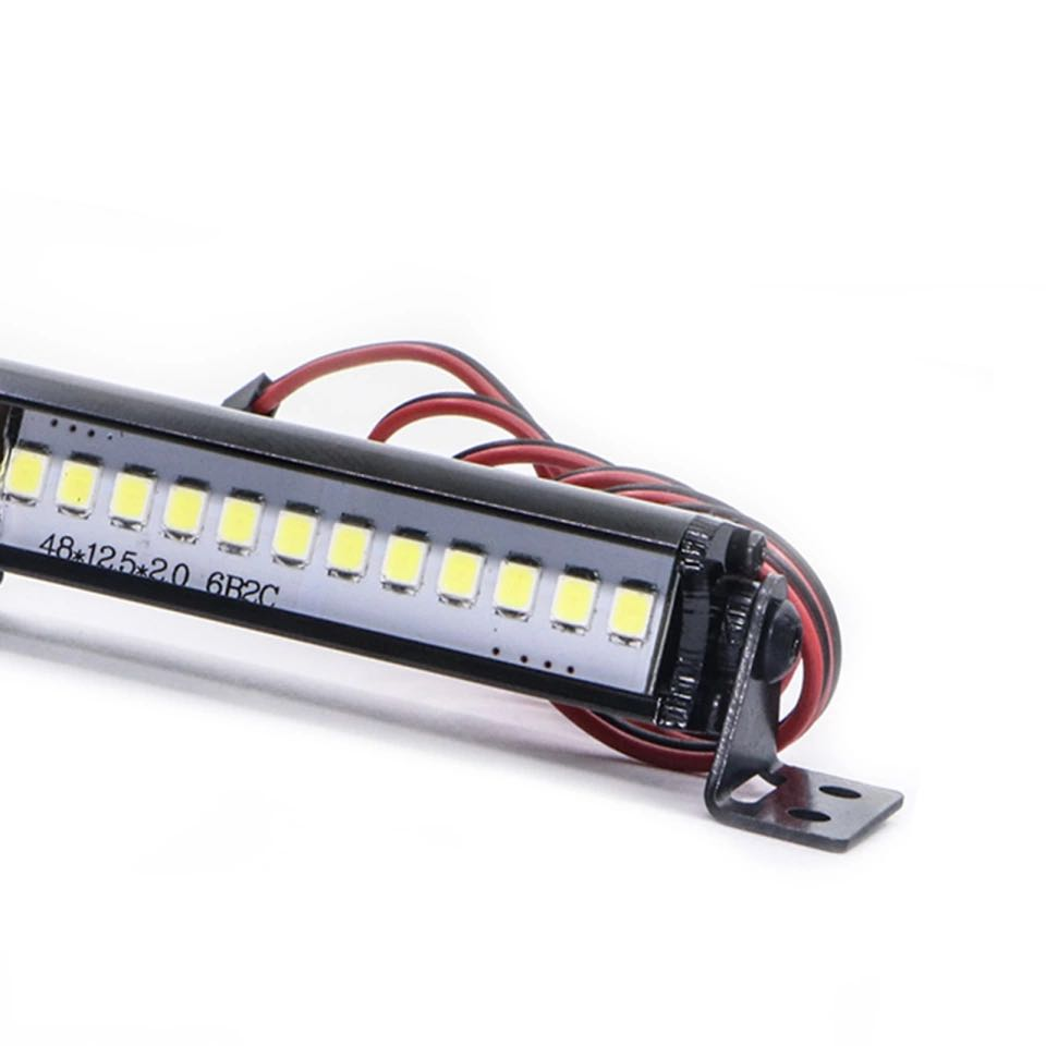 FREE SHIPPING Trx4 Metal Roof Lamp 12 LED Light Bar For 1/10 RC Crawler TRX4 SCX10 KM2 CC01 Remote Control Toys Parts enlarge