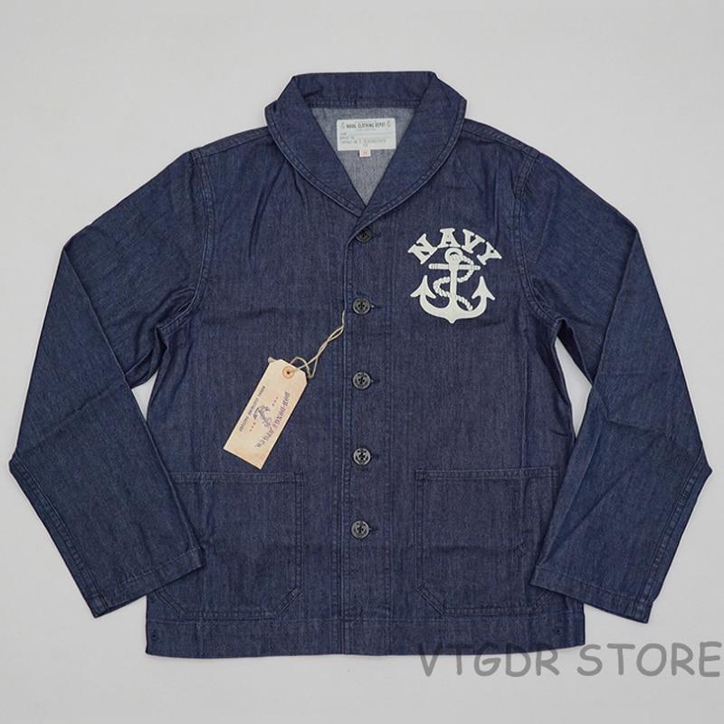 Chaqueta de US Navy BOB DONG, chaqueta Vintage para hombre, chaqueta vaquera tipo Peto USN para hombre, abrigo de uniforme WW2