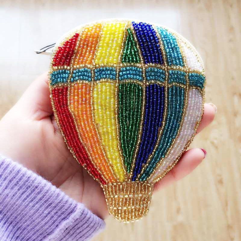 Ensso 2018 Handmade Purse Luxury Beading Balloon Cartoon Beaded Mini Shoulder Bag Colorful Mini Wallet Embroider Beads Women