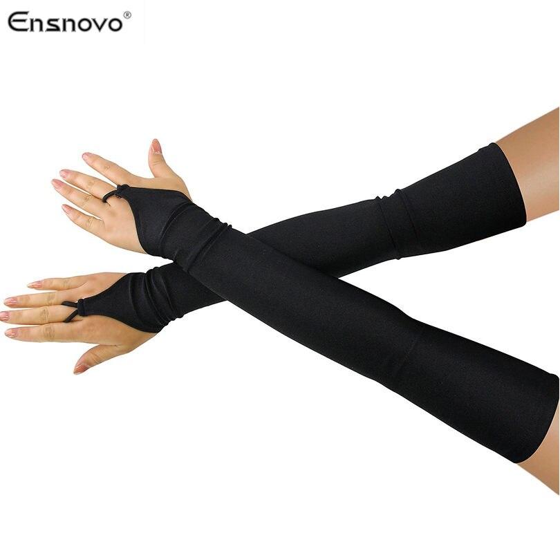"""Ensnovo Las Mujeres 18 """"LICRA elástica guantes de codo ópera guantes cosplay traje de fiesta de baile guantes"""