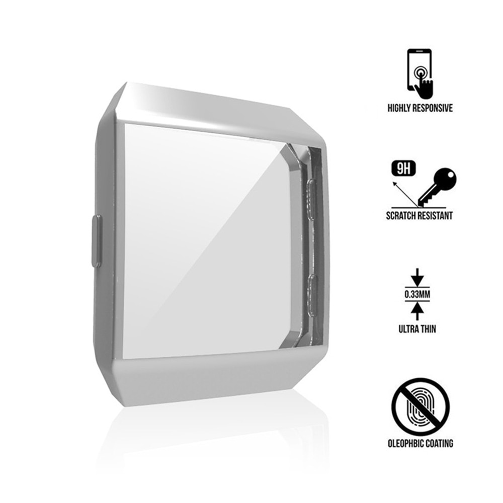 Suave TPU cubierta protectora de pantalla completa para Fitbit iónico caja-alrededor de Ultra-revestimiento Delgado Color accesorios de