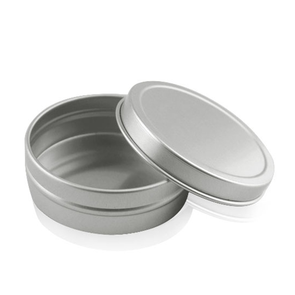 RUNDE ÜBERLEBEN KIT ZINN Kleine Leere Topf Plain Metall Lagerung Bit Box Mini Lip Balm
