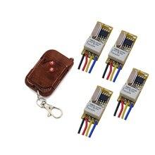 Commutateur relais sans fil   Livraison gratuite, petit Volume DC3.7V 5V 6V 7.4V 9V 12V RF récepteur émetteur NO COM NC télécommande 315/433mhz