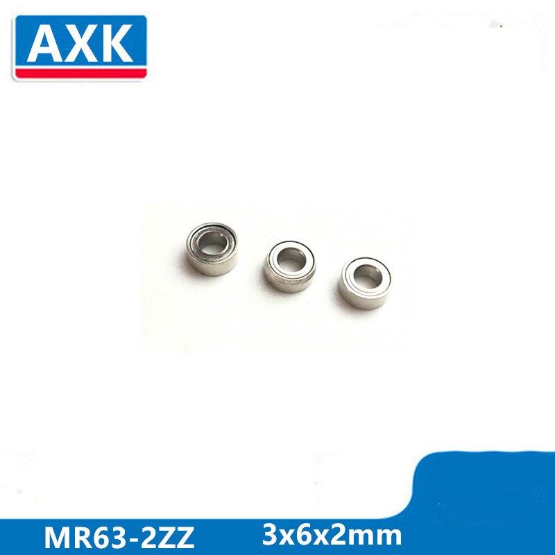 Axk 50 pces Mr63-2zz-2 3x6x2mm rolamento de esferas profundo do sulco rolamento miniatura mr63zz