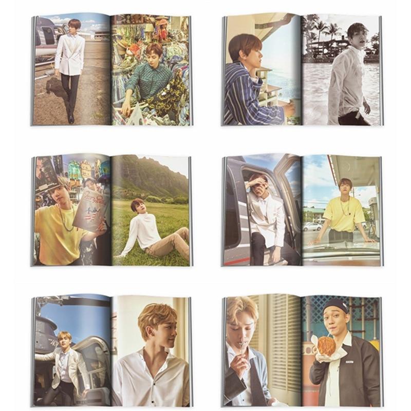 EXO Hawaii presente Album de fotos atractivo tipo laico CHAN YEOL HUN Park Can Lie álbum de fotos