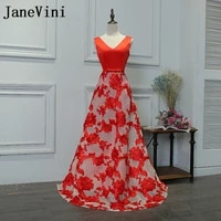 janevini red lace long bridesmaids dresses 2018 sexy v neck wedding guest party dresses a line prom gowns kleid brautjungfer