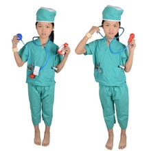 Halloween Doctor Nurse Surgery Surgeon Operation Kids Child Costume Uniform 3-9Y