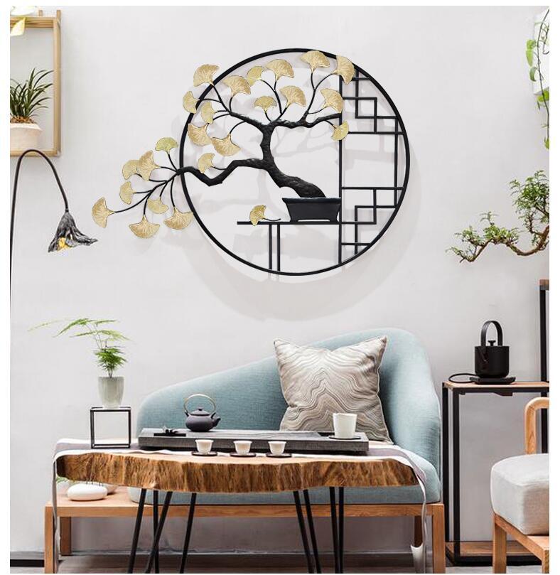 Новый китайский кованого железа настенный завод ремесла украшения дома гостиной столовой стены стикер отель настенная роспись украшение