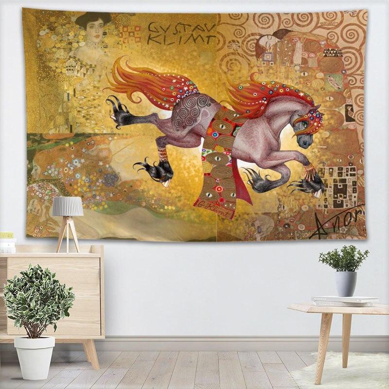 Гобелен Kiss Gustav Klimt, настенный Декор для дома, вечеринки, украшения, тканевые гобелены, палатка для кемпинга, путешествия, спальный коврик