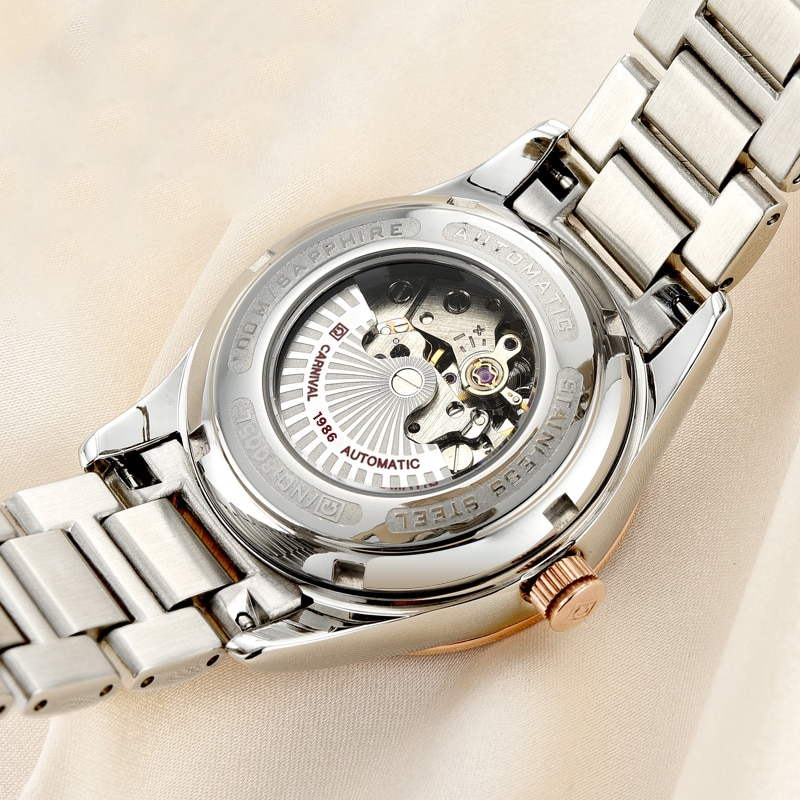 2018 Rushed Top Fashion Genuine Carnival Watch Lady Automatic Mechanical Fashion Stars Hollow Diamond enlarge
