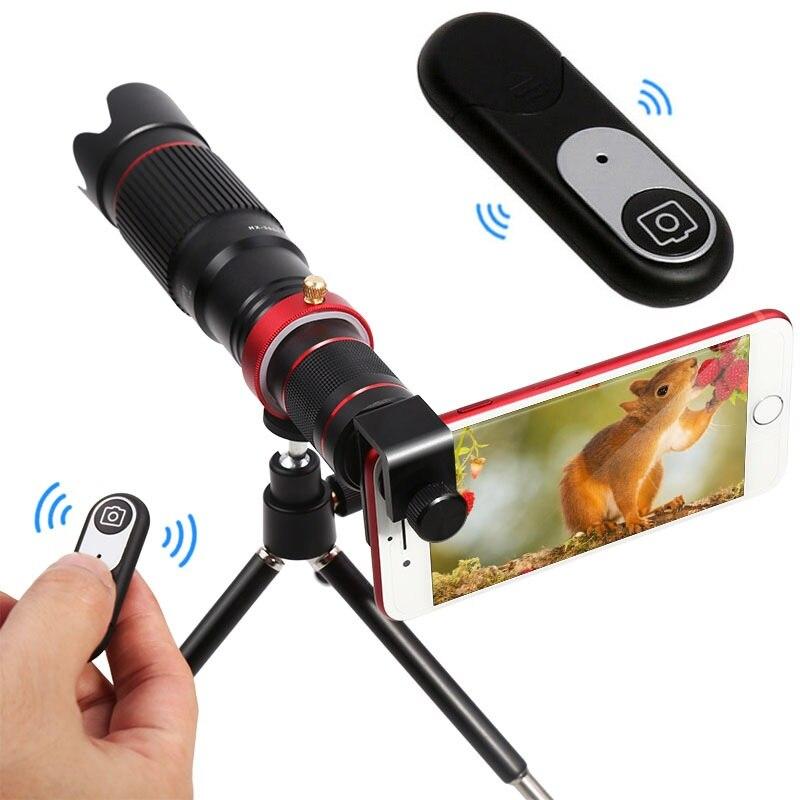 HD 4K 36x Cámara telescópica con Zoom, lente óptica para teléfono móvil, objetivo para iphone Samsung Xiaomi Huawei Smartphone, lentes para teléfono móvil