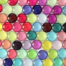 Кабошоны для фотографий 8, 10, 14, 16, 18, 20, 25, 30 мм, разноцветные Кабошоны с круглыми узорами, купольная Камея k04147