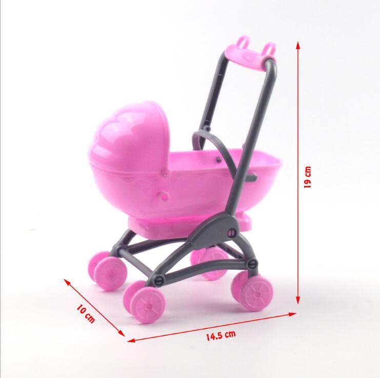 Original para barbie carrinho de bebê conjunto carrinho de bebê carrinho de bebê berçário móveis carrinhos brinquedos para barbie boneca natal
