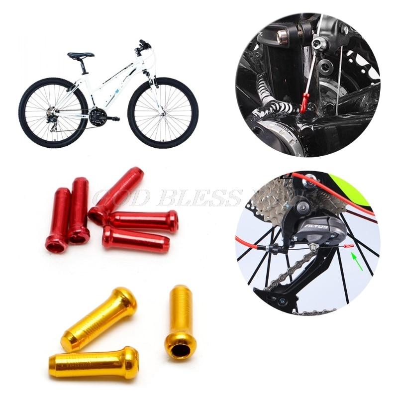 30 pçs conjunto 7 cores fio de freio fim cabo tampa peças de alumínio mtb bicicleta linha núcleo tampa capa de freio de mudança de engrenagem transporte da gota