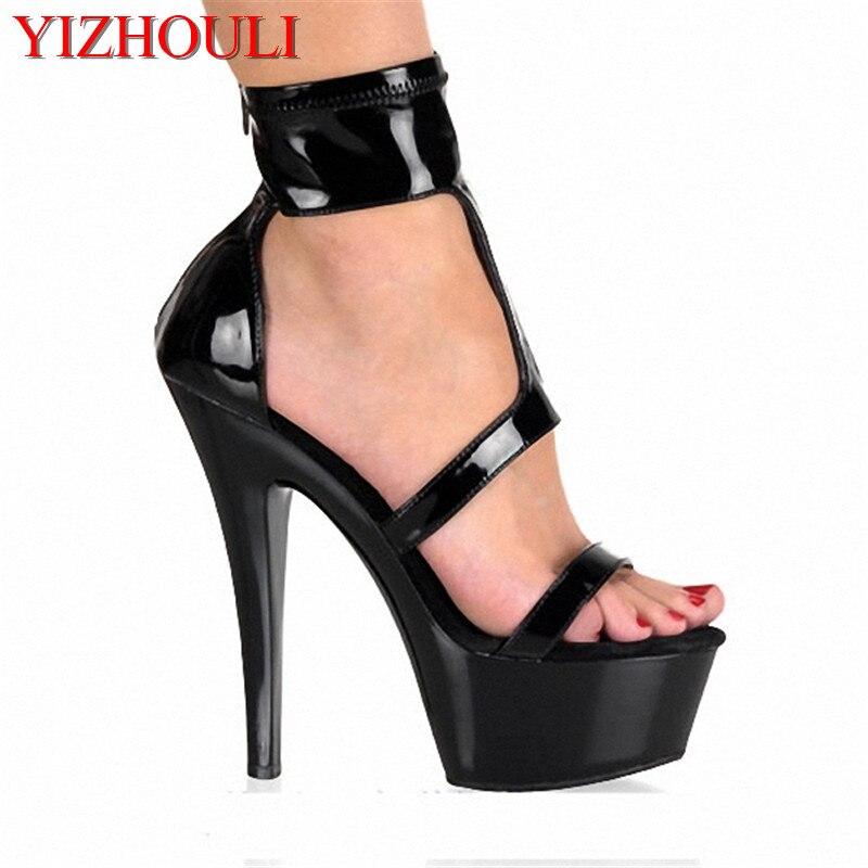 ¡Venta al por mayor! ¡verano 2018! sexis zapatos de tacón alto con plataforma para mujer, sandalias de baile en Barra de 15 cm, zapatos de danza exóticos de 6 pulgadas