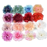 Tetes de fleurs artificielles en soie  10 pieces  5cm  pour decoration de mariage  maison  Scrapbooking  fausses fleurs de noel bon marche