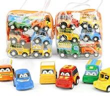 6/zestaw mały uroczy samochód ciężarowy pojazdy Kid dzieci zabawki dla chłopca Xmas prezent urodzinowy