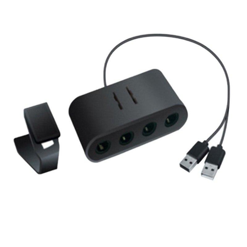 Convertidor de adaptador de controlador de GameCube 2 en 1 para WiiU para interruptor NS