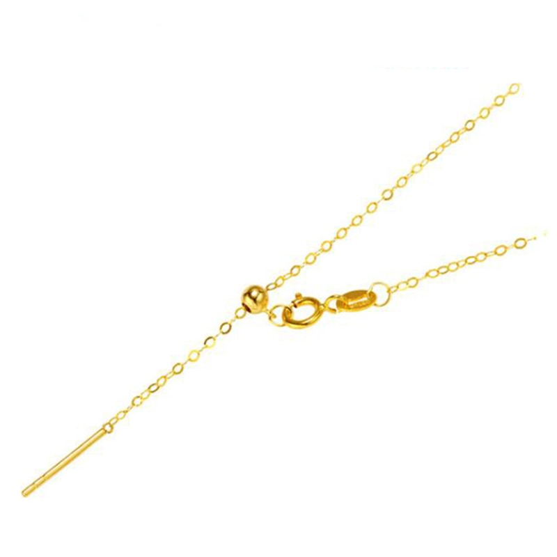Promo Sinya 18k Classical AU750 Pure Gold Universal Chain about 0.9gram Adjustable Fashion DIY Jewelry Necklace Best Gift For Women