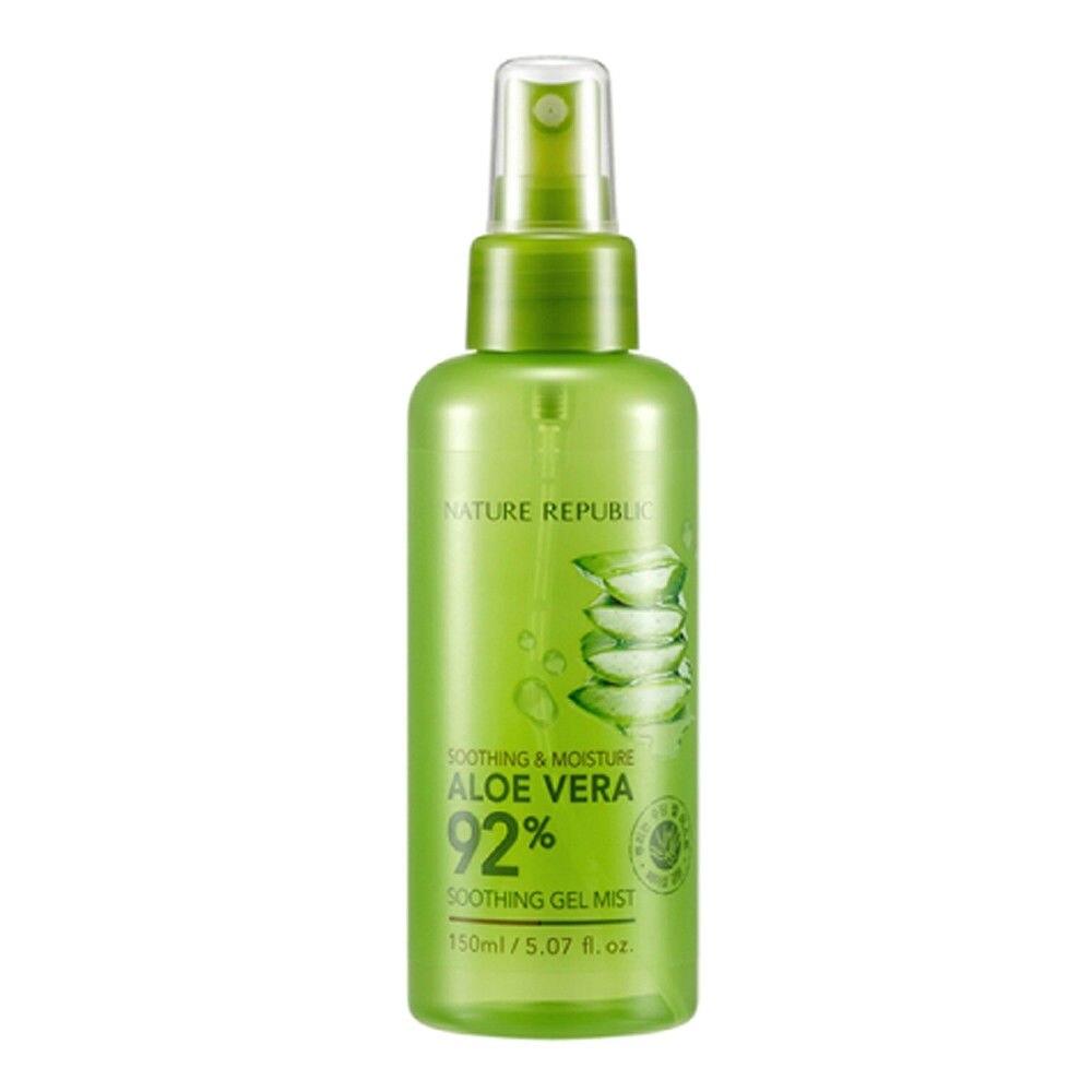 NATUREZA REPÚBLICA Calmante & Umidade Aloe Vera 92% Aloe Gel Calmante Névoa 150ml Hidratante Calmante Da Pele do Rosto Spray Facial soro