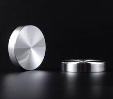 4 pièces/lot 10mm dépaisseur solide en aluminium cercle disque en verre haut adaptateur café thé Table barre en verre dessus de Table en verre disque matériel