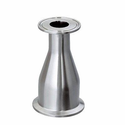 """51mm 2 """"vire a 25mm 1"""" tubo o/d 2 """"a 1.5"""" tri braçadeira reduzindo 304 aço inoxidável sanitário redutor tubulação encaixe homebrew"""