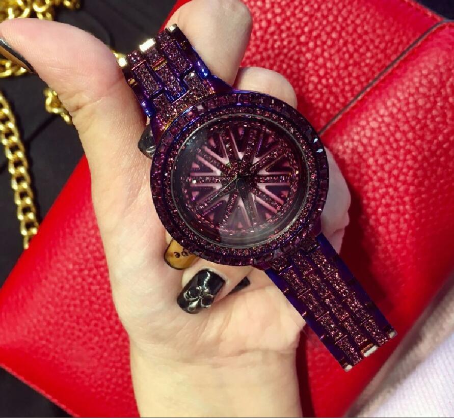 Reloj de moda de lujo para mujer, reloj con movimiento de acero, reloj de cristal de cuarzo, reloj vestido de strass Vintage, reloj de mujer, pulsera dw