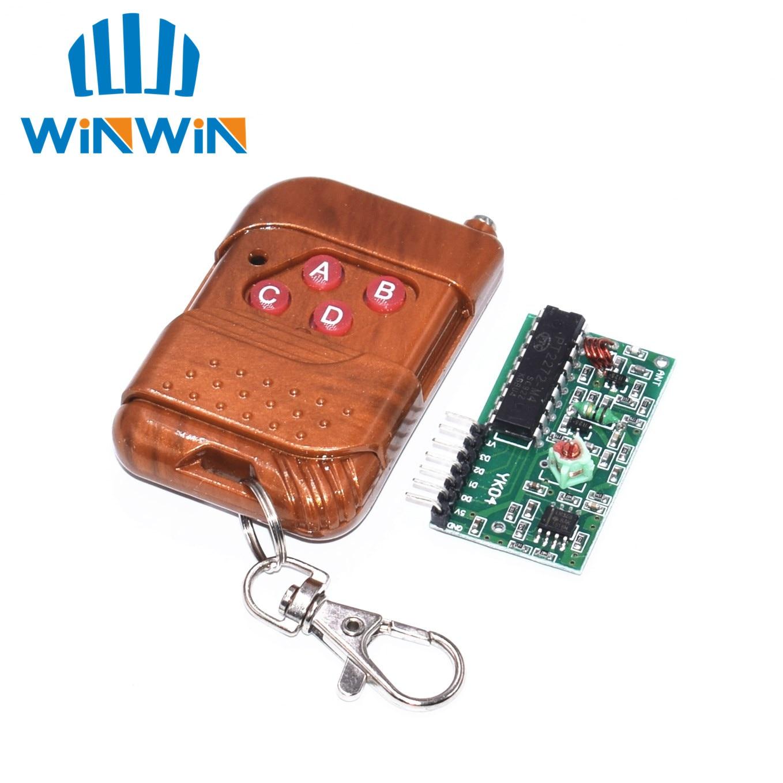 C04 5set =10pcs 2262/2272 Four Ways Wireless Remote Control Kit,M4 the lock Receiver with 4 Keys Wireless Remote Control